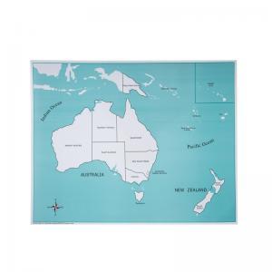 Australia Control Map - Labeled