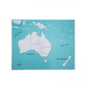 Australia Control Map - Unlabeled